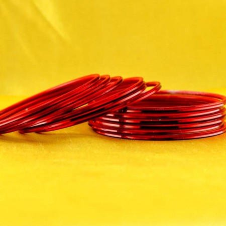 metal red colour bangle size-2.4,2.6,2.8