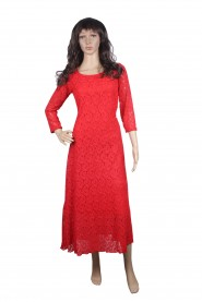 kurti with exclusive pattern