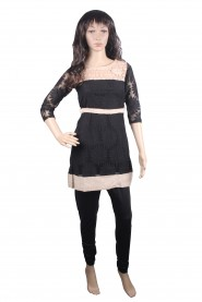 Uniquely designed black kurti