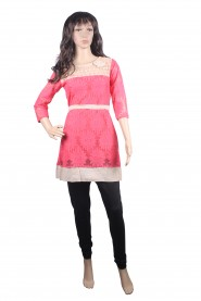 trendy looking pink kurti