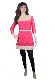 Precisely designed kurti with 3-4th sleeves