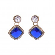 Simple yet fashionable gold-plated earrings