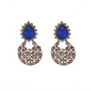 Gold-plated gorgeous drop earrings