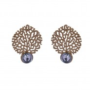 Elegantly designed gold-plated earrings