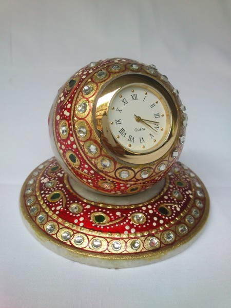 Marble Round Plate Watch