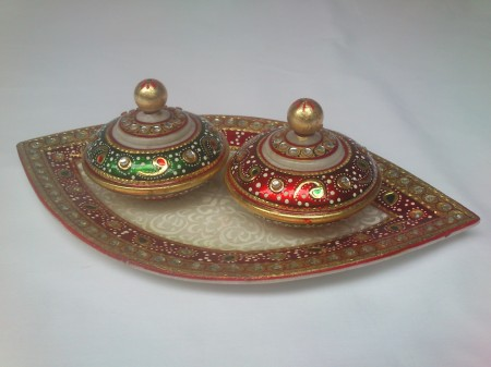 Marble Tray with containers