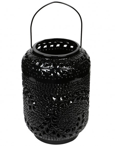 Decorative candle holder Black Metal Lantern