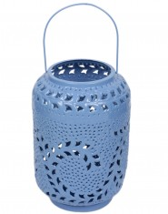 Decorative candle holder Blue Metal Lantern