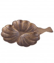 Brass Maple Leaf 3 Parttion Dry Fruit Tray