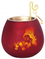 Metal Tealight Holder Krishna