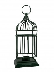 Sutra Decor Iron Green Cage Cup Tealight Holder