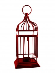 Sutra Decor Metal Red Cage Cup Tealight Holder