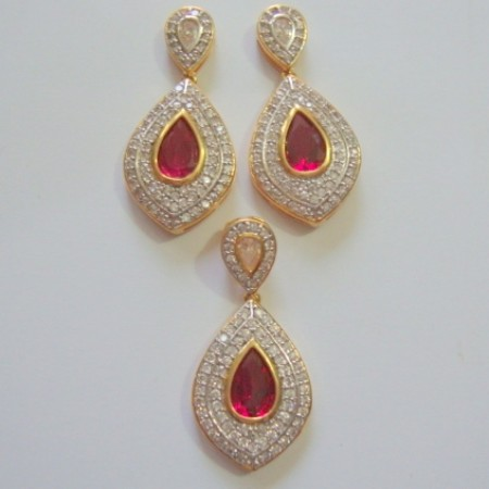 CZ Earring and pendent set