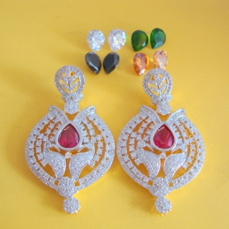 Gold plated earring set