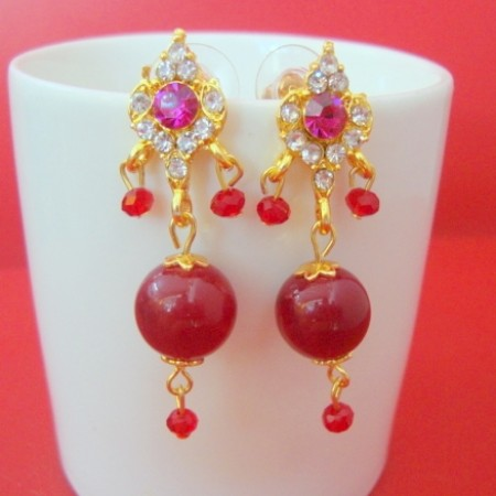 Beads Jhumki earrings