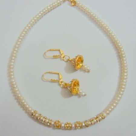 Hydrabadi Real pearl Necklace set