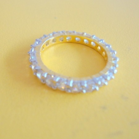 Gold plated American Diamond finger ring