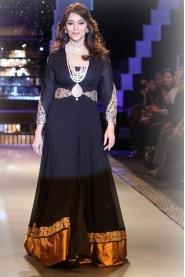 Madhuri Dixit In Designer Black Anarkali Suit Walk At IIJW 2012