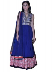 Nargis Fakhri In Royal Blue Anarkali Suit