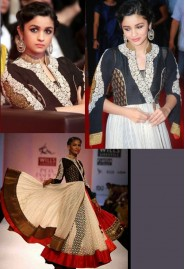 Alia Bhatt In White Anarkali Suit At IFFI 2013 Goa