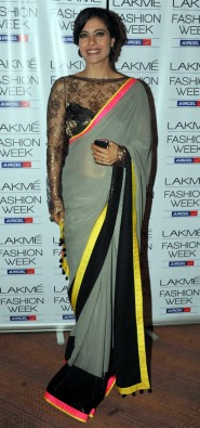Kajol Grey Georgette Bollywood Saree With fabulous Blouse