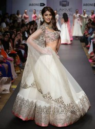 Ileana D'cruz In White Lehenga At Walks The Ramp