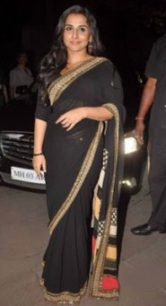 Bollywood Replica Vidya Balan Chataka Black Saree