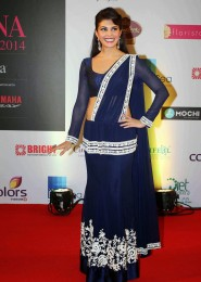 Jacqueline Fernandez Blue Lehenga Choli At Femina Miss India 2014