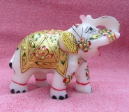 marble  decorative elephant pair
