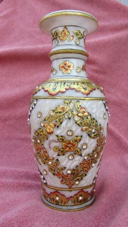 marble gold painted pot