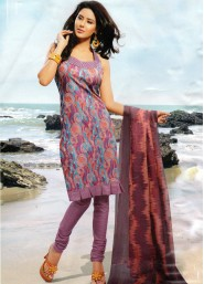 Tantalizing regular wear printed cotton salwar kameez