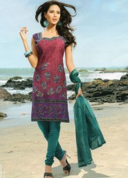 Exotic fancy regular wear printed cotton salwar kameez