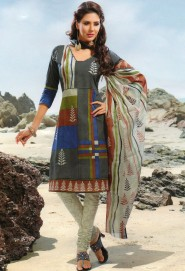 Melodic casual wear printed cotton salwar kameez