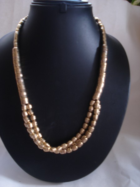 Cosma Multi Strand Necklace in Brass - Gold Finish
