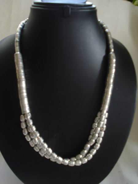Cosma Multi Strand Necklace in Brass - Silver Finish