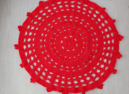 Red Crochet Multipurpose Mat