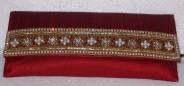 Kshitij Silk Red Clutch (KJC 21)