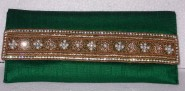 Kshitij Silk Green Clutch (KJC 22)