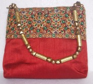 Kshitij Silk Red Handbag (KJC 66)