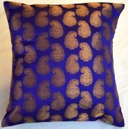 Brocade Cushion Cover Purple