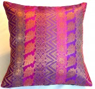 Brocade Cushion Cover Pink