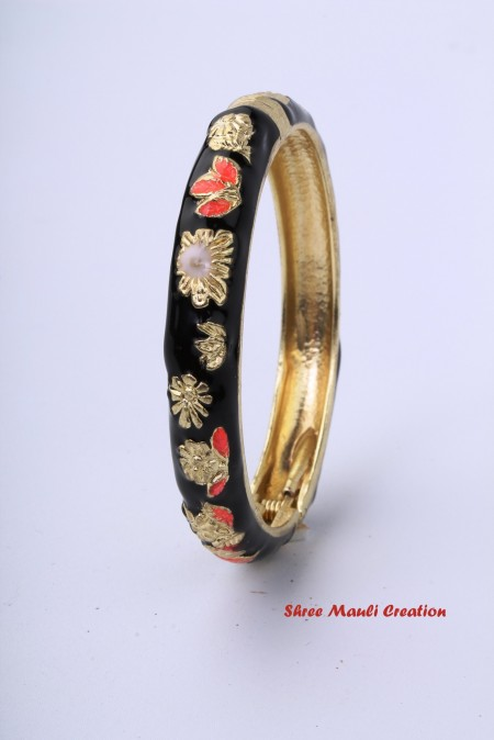 Fancy Black Kada Bangle