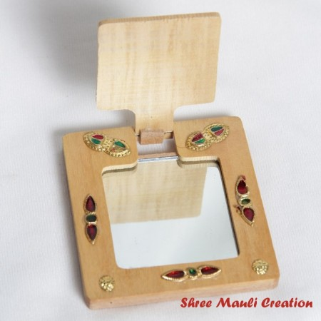 Wooden Pocket Mirror