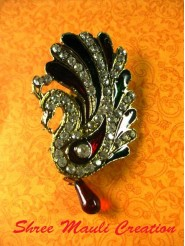 Peacock Multi Color Saree Pin Brooch